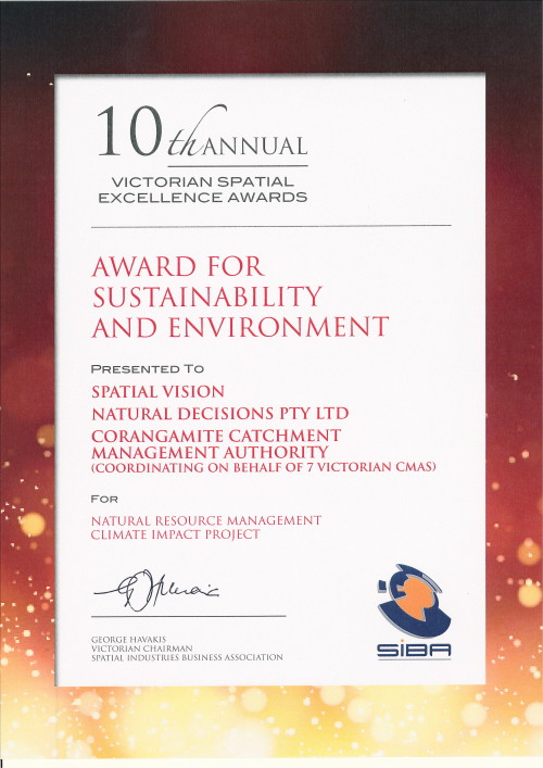 Spatial Excellence Award - Sustainability and Environment